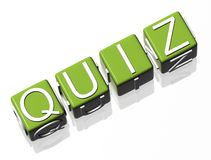 Quiz. Green text on white background Royalty Free Stock Photography