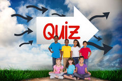 Quiz against road leading out to the horizon Royalty Free Stock Photography