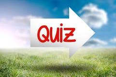Quiz against sunny landscape Stock Photos