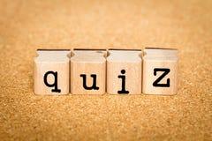 Quiz - Alphabet Stamp Concepts Stock Image
