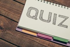 Quiz Stock Photography