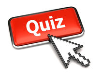 Quiz button and arrow cursor Royalty Free Stock Image