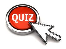 Quiz button and arrow cursor Royalty Free Stock Photos