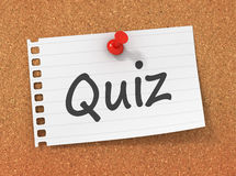 Quiz concept 3d illustration Royalty Free Stock Photo
