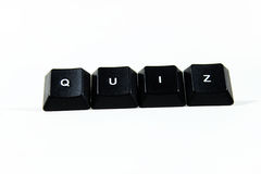 QUIZ Concept. Using Keyboard Keys Royalty Free Stock Photo