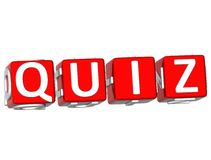 Quiz Cube text Royalty Free Stock Photos