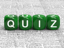 Quiz Dice Shows Questions Answers And Testing Royalty Free Stock Images