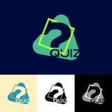 Quiz eenvoudig embleem Royalty-vrije Stock Foto