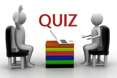 Quiz illustration Stock Photography