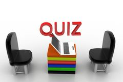 Quiz illustration Stock Photos