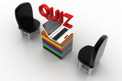 Quiz illustration Stock Image