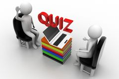 Quiz illustration Stock Photo