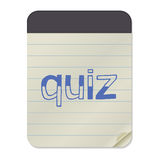 QUIZ  Lettering on Notebook Royalty Free Stock Photography