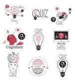 Quiz logo emblems labels design element. Mind games logo. Royalty Free Stock Image