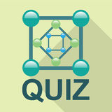Quiz Logo vector Royalty Free Stock Images