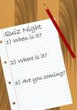 Quiz-Nacht Lizenzfreies Stockfoto