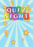 Quiz-Nachtplakat-Broschüre, Flieger, Förderung für einen Quiz-Wettbewerb lizenzfreie abbildung