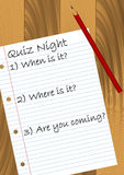 Quiz Night. Design. Available in jpeg and eps8 format Royalty Free Stock Photo
