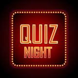 Quiz night announcement poster design web banner background. Vector illustration Stock Image