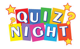 Quiz Night Banner. In multi colors Stock Images