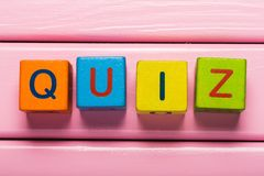 Quiz. Pop website test isolated human wisdom Royalty Free Stock Photos