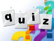 Quiz Questions Means Frequently Puzzle And Quizzes Royalty Free Stock Images