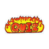 quiz sign cartoon Stock Image