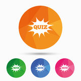 Quiz sign icon. Questions and answers game. Stock Images