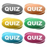 Quiz sign icon. Questions and answers game symbol vector illustration