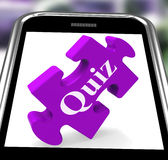 Quiz Smartphone Means Internet Question And Answer Game Stock Photo