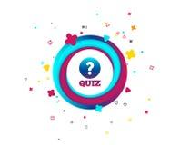 Quiz szyldowa ikona Pytanie i odpowiedź gemowi royalty ilustracja