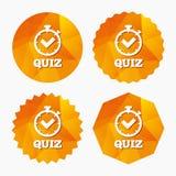 Quiz szyldowa ikona Pytanie i odpowiedź gemowi Fotografia Royalty Free