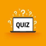 Quiz, test, survey, exam vector concept Stock Photography