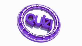 Quiz text. 3 d render Royalty Free Stock Photography
