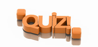 Quiz text. High resolution 3d render Royalty Free Stock Photo