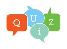 Quiz text in speech bubbles.  royalty free illustration