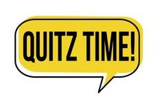 Quiz time speech bubble Stock Photo