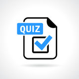 Quiz vector icon. Quiz file vector icon illustration Royalty Free Stock Photos