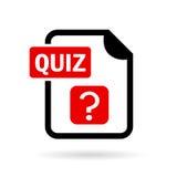 Quiz vector icon Royalty Free Stock Photos
