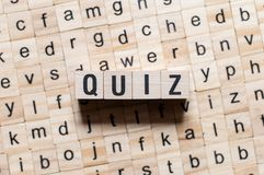 Quiz word concept royalty free stock photography