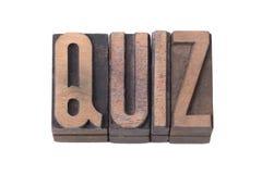 Quiz word isol Royalty Free Stock Photo
