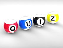 Quiz Word Showing Test Or Quizzing Stock Image