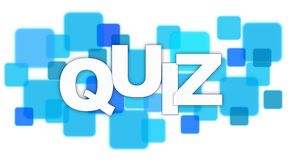 Quiz. Word on Square Blocks Stock Photo