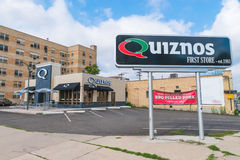 Quiznos stockent d'abord Images stock