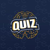 Quizu ikona, logo/ Sztuki ilustracja royalty ilustracja
