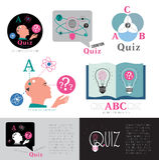 Quizu logo Nowożytny loga test dla inteligenci Obrazy Stock