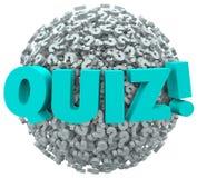 Quizów znaki zapytania Oceniają Próbną wiedzę Zdjęcia Stock