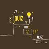 Quizzes, school exam quiz vector abstract background. Questionnaire quiz study illustration Royalty Free Stock Photography