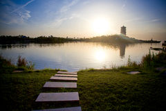 Qujiang池遗物公园 免版税库存图片