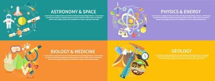 Química, la física, biología Fotos de archivo
